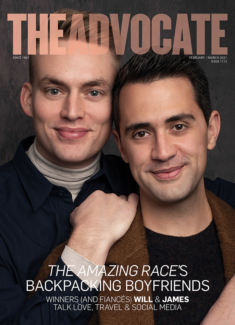 Advocate Cover featuring Amazing Race winners Will & James