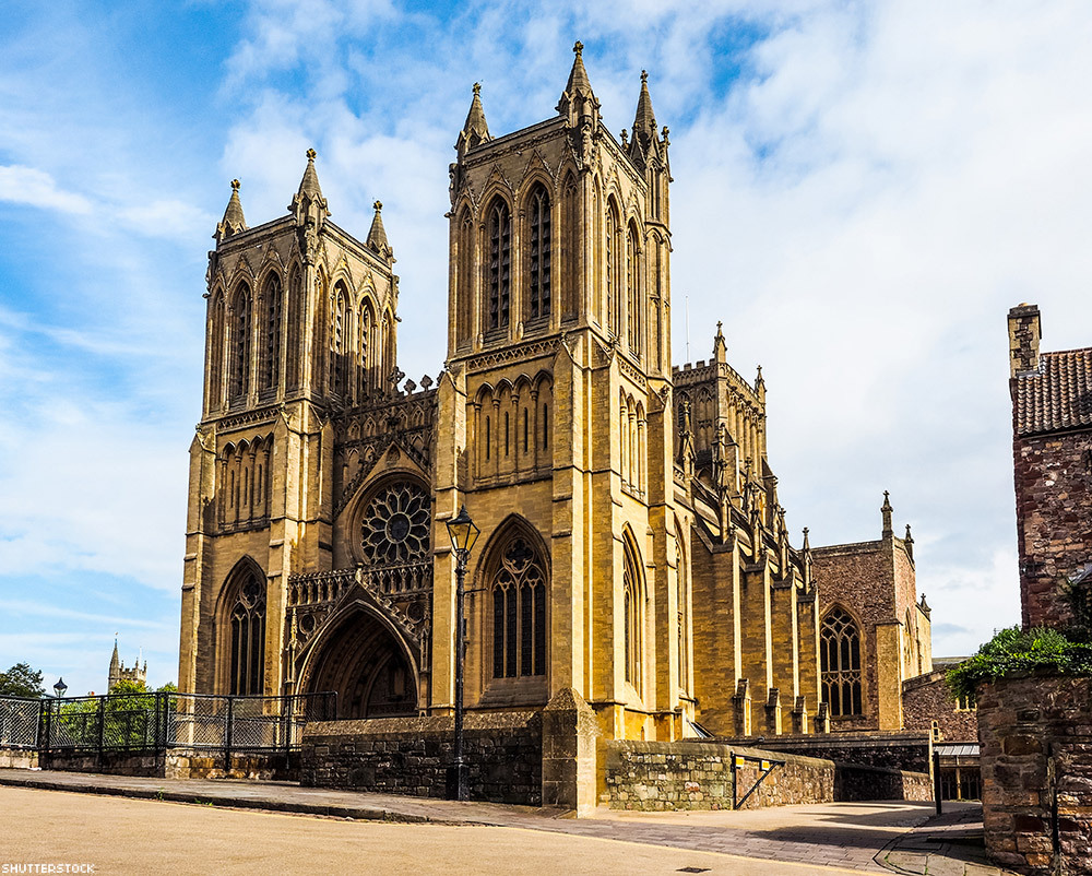 Construction on Bristol Cathedral in England was begun in 1220 and not finished until 1877.