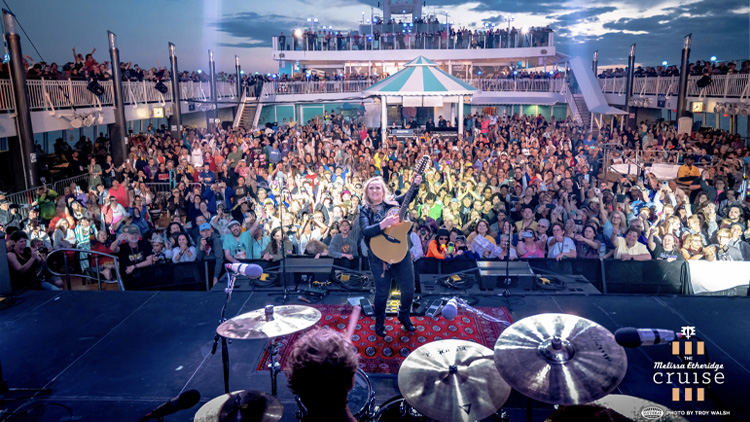 Melissa Etheridge performing on the 2019 cruise