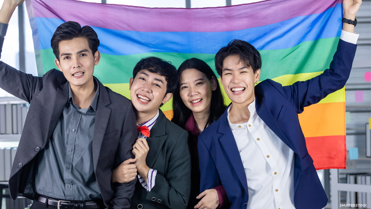 Group of young LGBTQ Asians