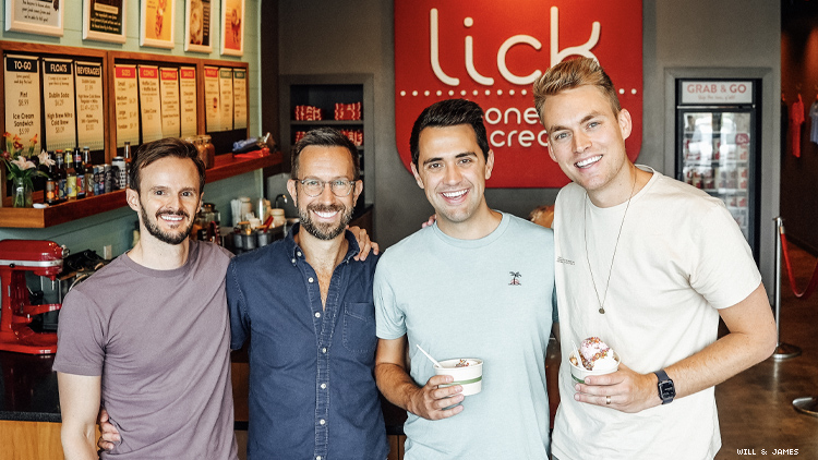 WIll & James at Austin's Lick Honest Ice Creams & owners
