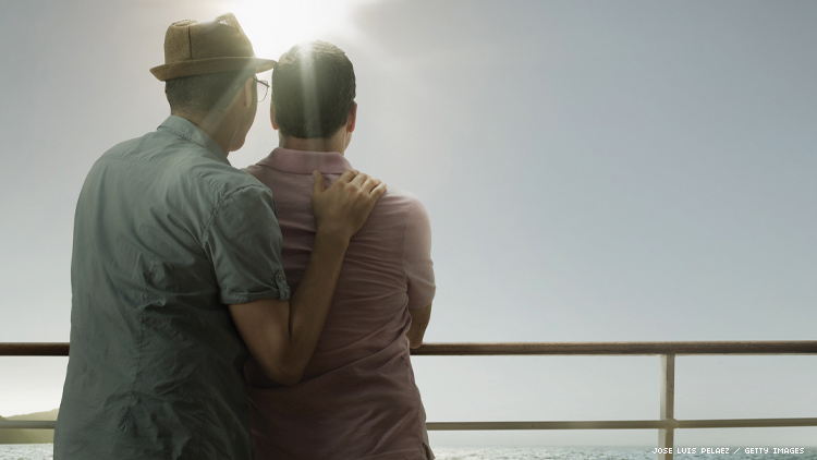 gay couple on a cruise