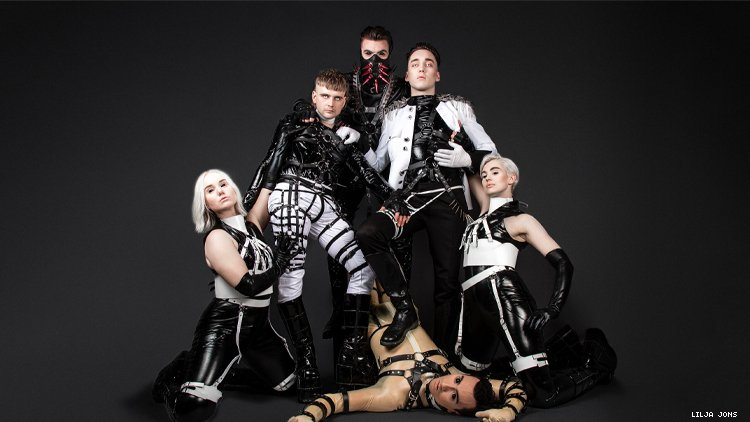Iceland band Hatari in 2019 promotional image for Eurovision