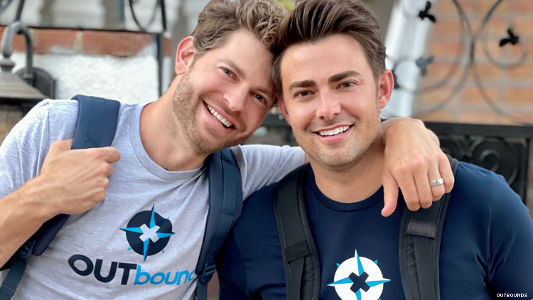 Jonathan Bennett and Jaymes Vaughan of OUTbound travel