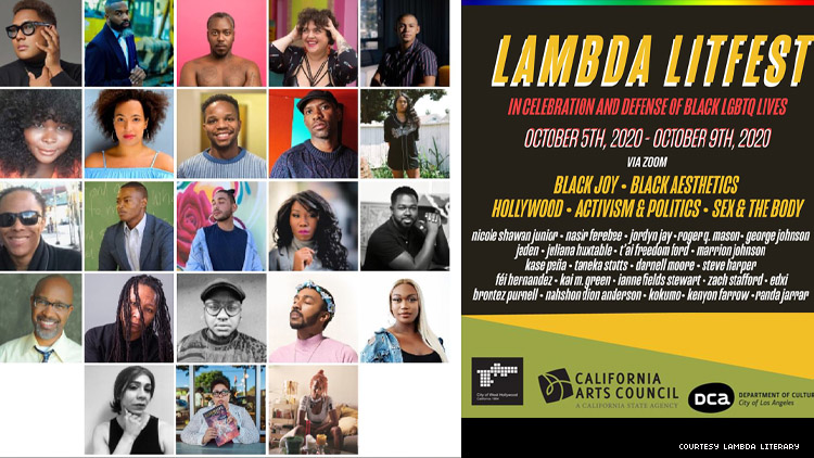 The all Black line-up for Lambda LitFest 2020 celebration of LGBTQ authors