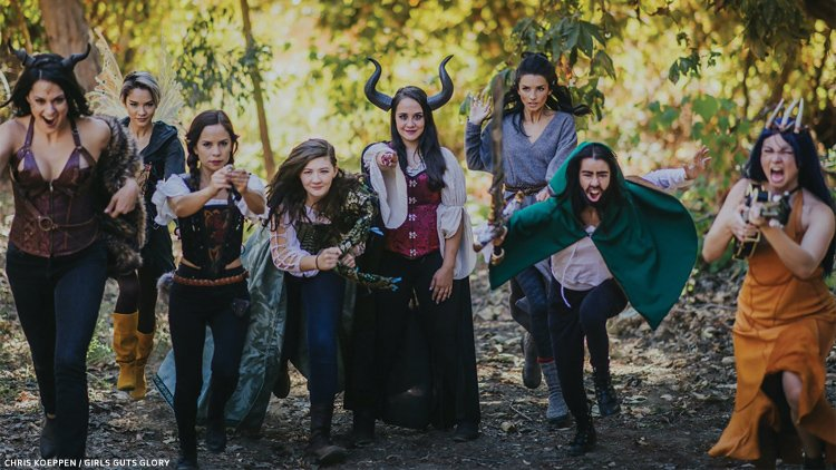 LARP players in the woods
