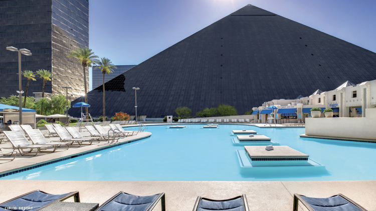 Luxor pyramid and pool