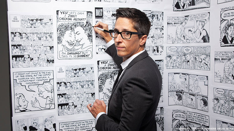 Alison Bechdel in No Straight Lines