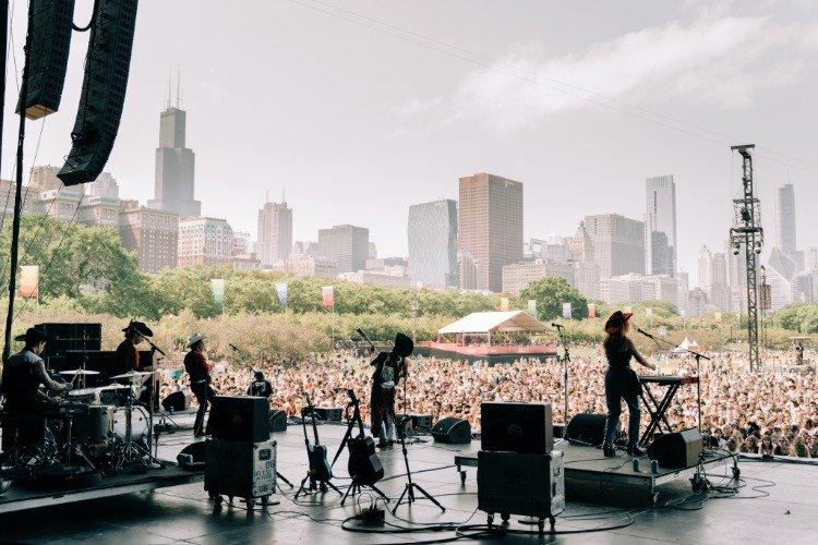 Orville Peck at Lollapalooza from back stage
