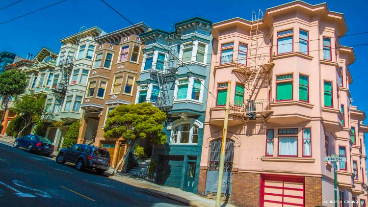 Colorful Victorians in San Francisco