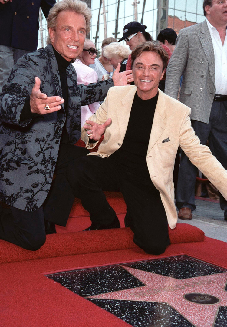Siegfried & Roy receive a star on the Hollywood Walk of Fame in 1999
