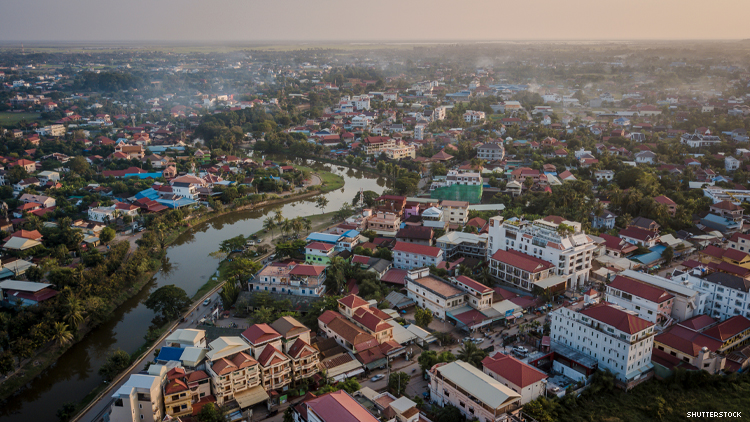 Siem Reap Cambodia from above