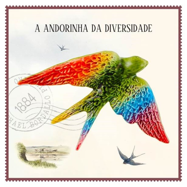 Take a Swallow for Diversity in Portugal with this rainbow-colored ceramic swallow.