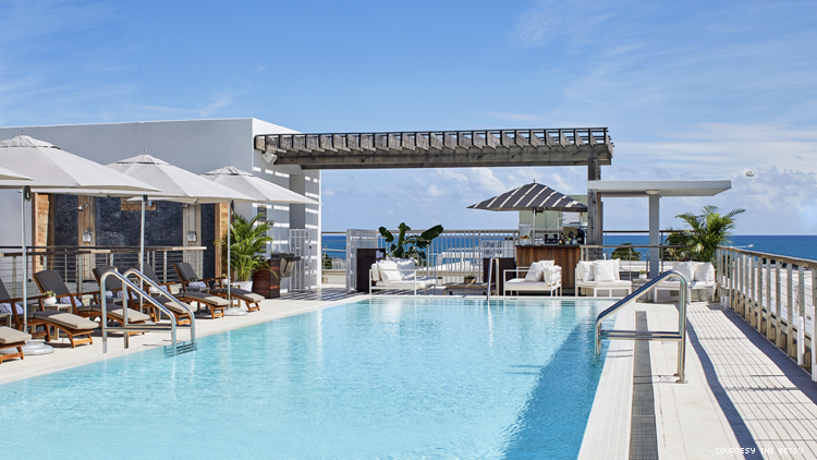 The rooftop pool at The Betsy South Beach