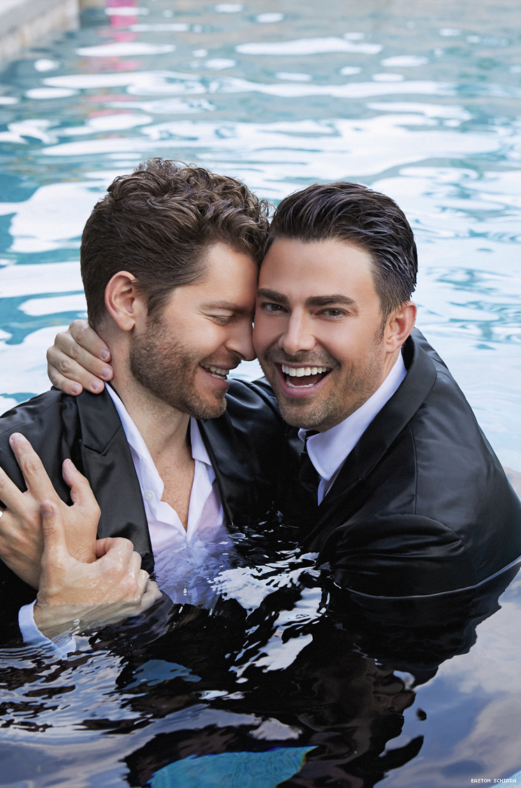 Jonathan Bennett and Jaymes Vaughan in The Knot feature story