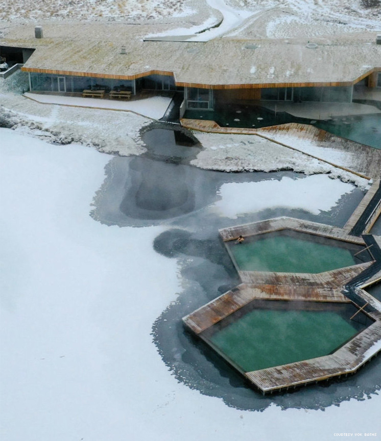 Vok Baths in Iceland from above