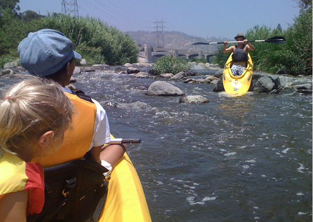 Kayaking — on the L.A. River