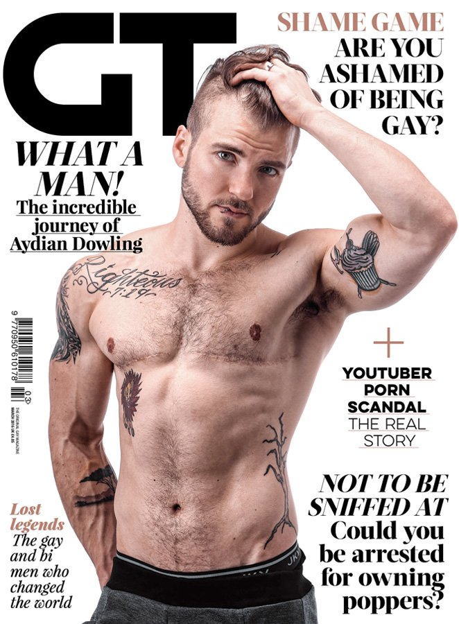 Aydian Dowling Is the First Trans Man to Cover Gay Times Magazine