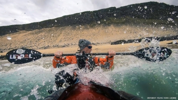 Veiga kayaking in Against the Current documentary