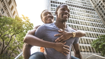 Black gay couple in New York
