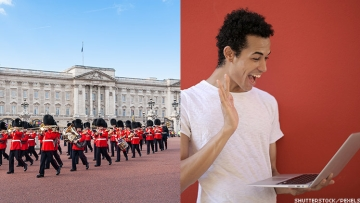 Visit Britain virtually with these five great sites; see the changing of the guard at Buckingham Palace in London, England, UK.