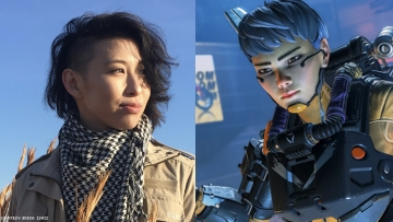 Erika Ishii and image of Valkyrie a character they voice