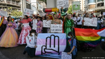 LGBTQ people protest the coup in Myanmar