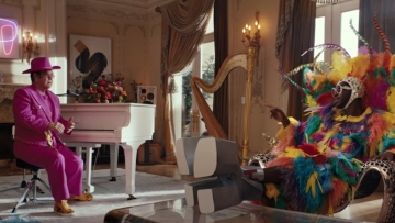Elton John and Lil Nas X in swap outfits in Uber Eats ad