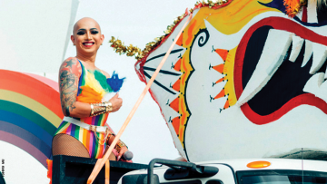 Ongina performs at an earlier Palm Springs Pride