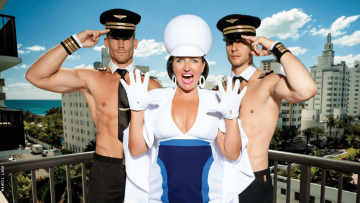 """The comedic air hostess, Pam Ann, takes the stage in Florida in her new show """"Pamdemic!"""""""