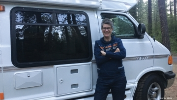 A solo traveler finds companionship — and Jell-O wrestling — while camping with other lesbians.