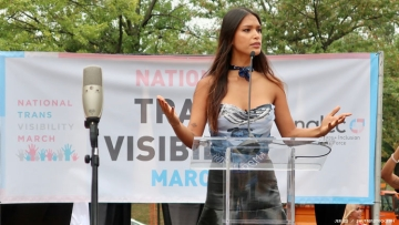 Geena Rocero speaks at 2019 Transgender Visibility March