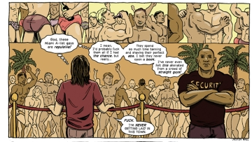 A panel from Justin Hall's Miami Brooklyn