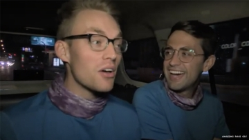 Will and James of 32nd The Amazing Race driving