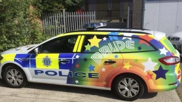 Police Cars Get Gay Makeovers For Brighton Pride