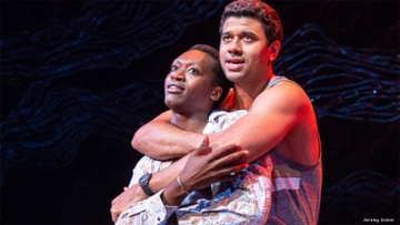 Ato Blankson-Wood and Robert Gilbert from the play The Rolling Stone