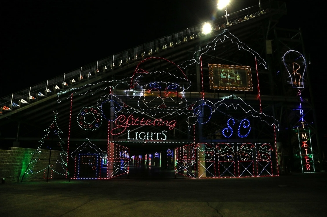 Glittering Lights at the Las Vegas Motor Speedway