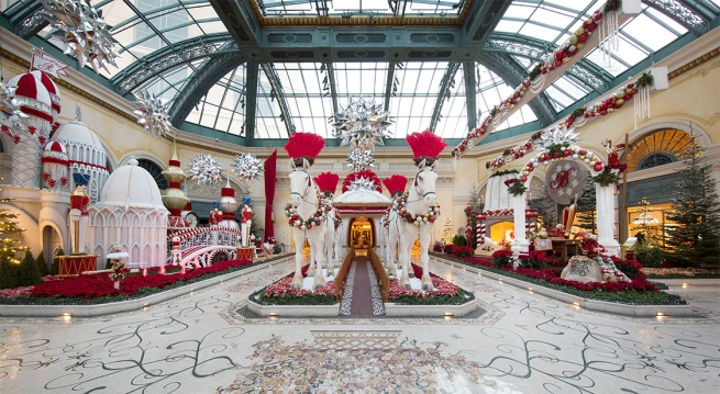 Bellagio Resort & Casino's Conservatory and Botanical Gardens Holiday Display