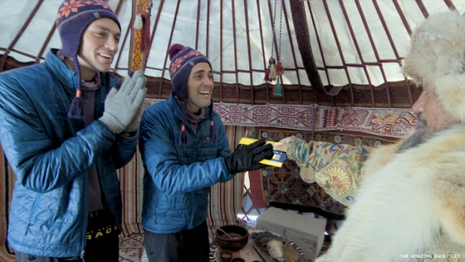 Will and James in Kazakhstan