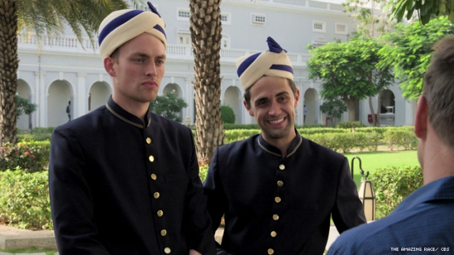 Will and James in India