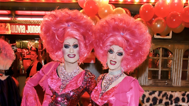 Drag queen twins Barbie Stupid and Lee Jackson