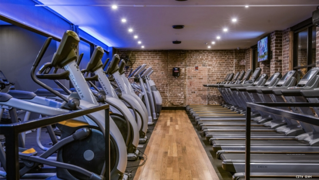 Cardio theater at City Gym