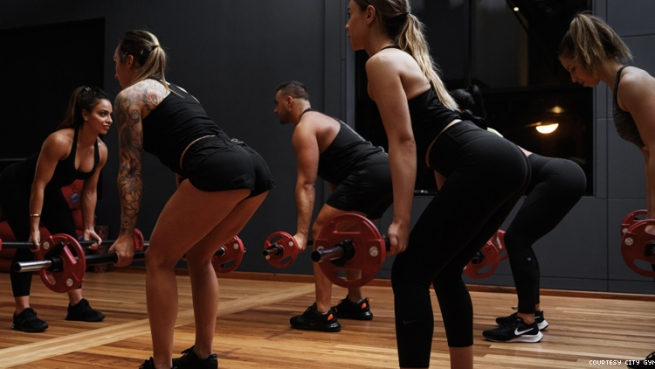 Weight lifting class at City Gym