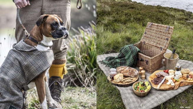 Fife Arms Dog Outfit and Picnic Blanket