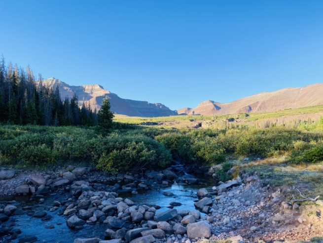 Henry's Fork Basin in the High Uintas Wilderness