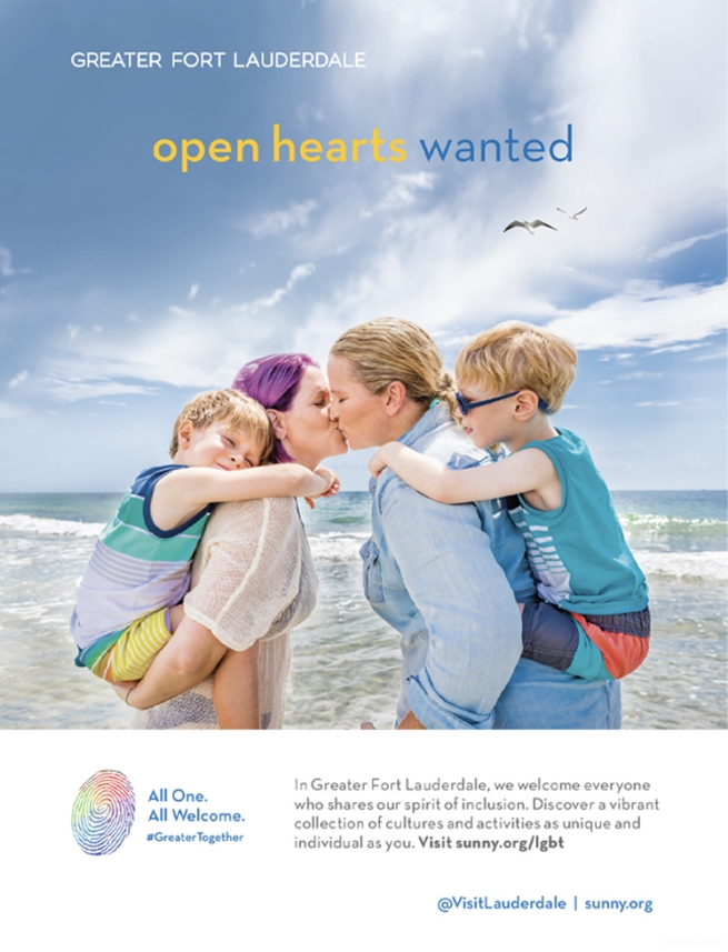 Greater Fort Lauderdale 2018 ad featuring lesbian moms