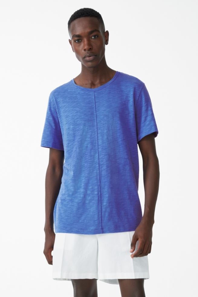 Blue Organic Cotton T- Shirt