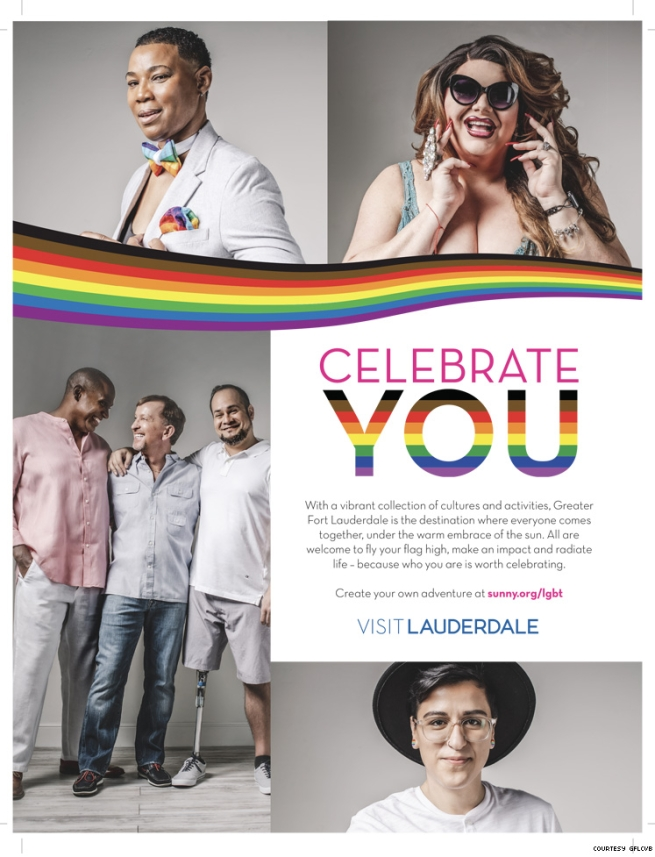 Greater Fort Lauderdale 2020 ad featuring trans and disabled LGBTQ+
