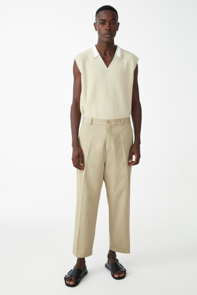 Relaxed Organic Cotton Linen Pants