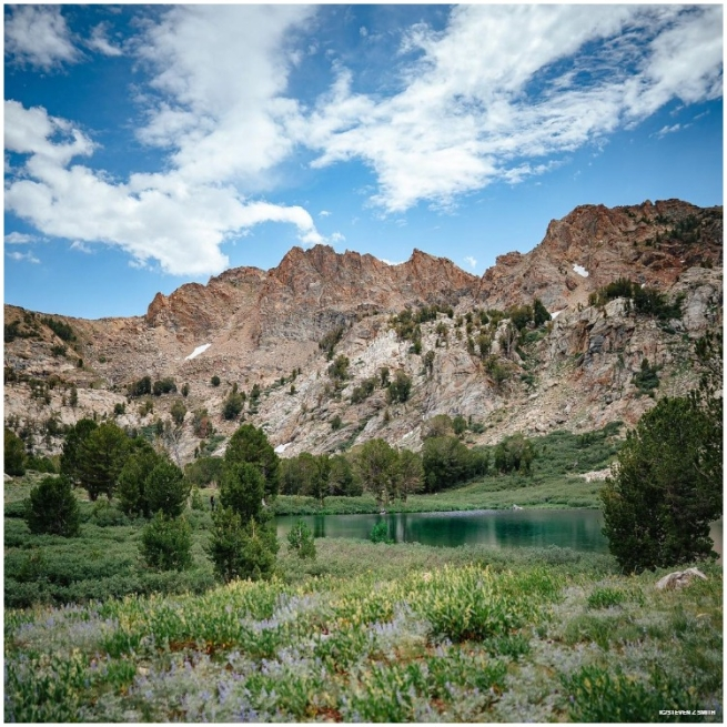 The Ruby Mountains rise out of the Great Basin Desert, with alphine lakes, streams, and towering mountains rising thousands of feet.